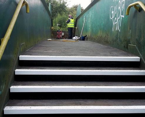 Herts CC Ringway Railway Footbridge Refurbishment -Universal Treads