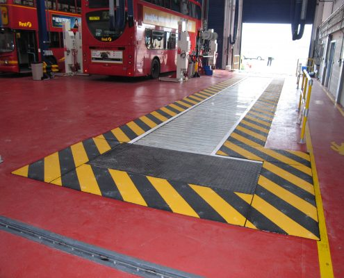 Atlas Rd Bus Depot Lee Valley - MIF ACME Panel walkway