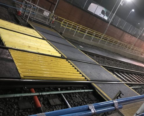 Crumpsall Stop Crossing with Underrun Protection & additional Skirrow Panel - MIF ACME Panel