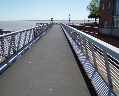 Hull Marina Access Bridge Hull - MIF Grip NT