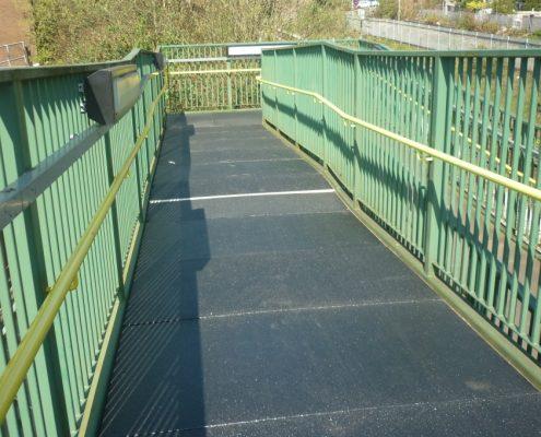 Porth Station Footbridge - MIF ACME Panels